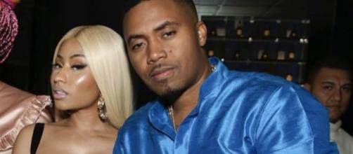 Nicki Minaj com o namorado Nas