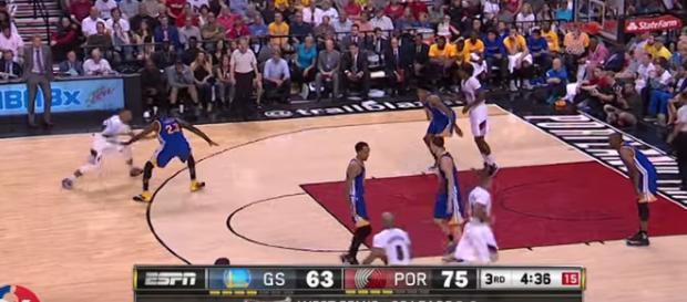 Damian Lillard leading Blazers. - [NBA / YouTube screencap]