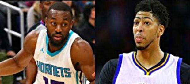 Kemba Walker and Anthony Davis are All-Star caliber players who can change addresses sooner or later [image credit: NBA-Ximo, the Fumble/YouTube]