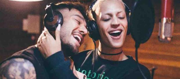 Pabllo Vittar e Lucas Lucco gravam clipe na Bahia