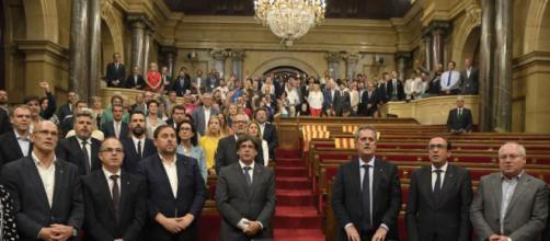 El parlamento Catalán habla sobre su líder