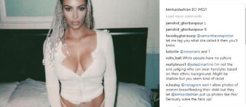 Kim Kardashian corn braid - Image credit - Kim Kardashian | Instagram