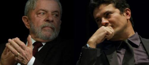 Lula junto ao juiz federal Moro