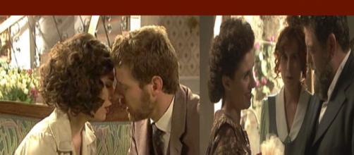 Nicolas e Camila si Baciano La moglie di Mauricio arriva in paese