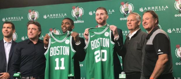 Boston Celtics presentan a Gordon Hayward y Kyrie Irving - despachoceltics.com