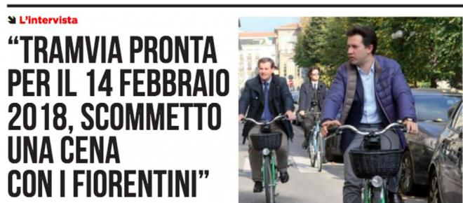Nardella paga una cena se la tramvia non sarà pronta: 8mila partecipanti su Fb