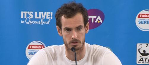Andy Murray during a press conference in Brisbane, Australia/ Photo: screenshot via Brisbane International channel on YouTube