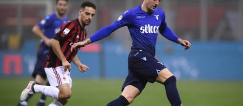 Bonaventura e Milinkovic-Savic in un'azione di Milan Lazio