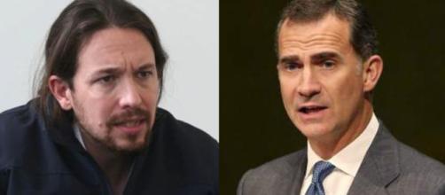 Felipe vi y Pablo Iglesias en imagen