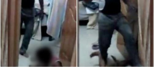 Homem é preso por agredir o próprio filho (Captura de vídeo)