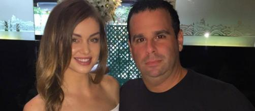 Lala Kent and Randall Emmett visit Mr. Chow. - [Photo via Facebook]