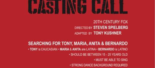 Qualche precisazione per i casting per il film di Spielberg ma anche tante altre selezioni per tv e spettacolo