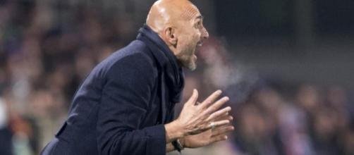 Il mister Spalletti in Fiorentina-Inter