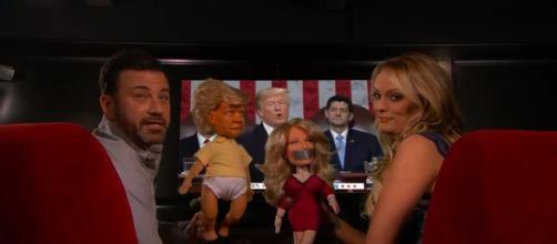 Stormy Daniels on Jimmy Kimmel, via YouTube