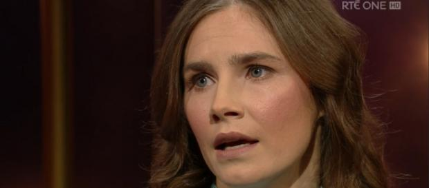 Amanda Knox on the Ray D'Arcy Show RTE TV Ireland screen capture