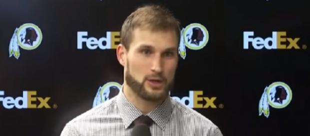 Kirk Cousins received the franchise tag twice with the Redskins (Image Credit: Washington Redskins/YouTube)