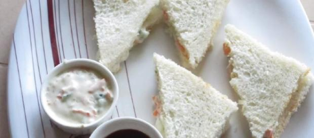 Veg MAYO SANDWICH - Perfect for Kids Lunchbox - Image credit - Ravinder's HomeCooking | YouTube