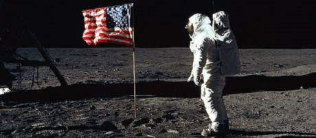 Buzz Aldrin on the moon [image courtesy NASA]
