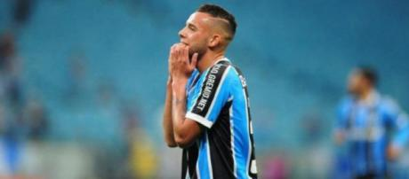 Jogador em atuação pelo Grêmio em 2016