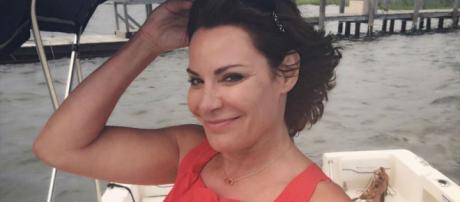 LuAnn de Lesseps poses on a boat. [Photo via Instagram]