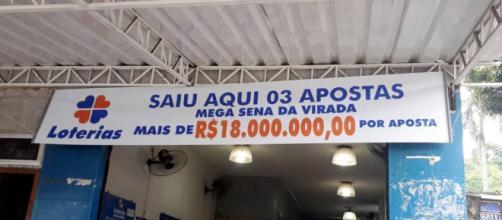 Lotérica de Parelheiros tem três bilhetes premiados da Mega da Virada. (Foto Reprodução).