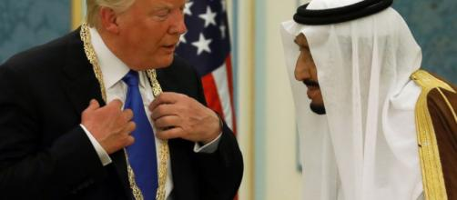 President Trump on his 1st foreign trip receives honor at Saudi ... (Image Credit: go.com/Youtube screencap)
