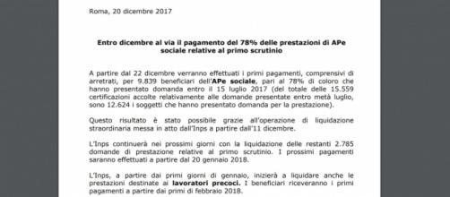 Riforma pensioni 2018, primi assegni precoci liquidati, quale il criterio usato