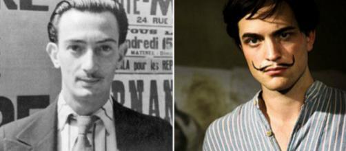 Salvador Dalí (à esq.) e Robert Pattinson (à dir.). Foto: Reprodução.