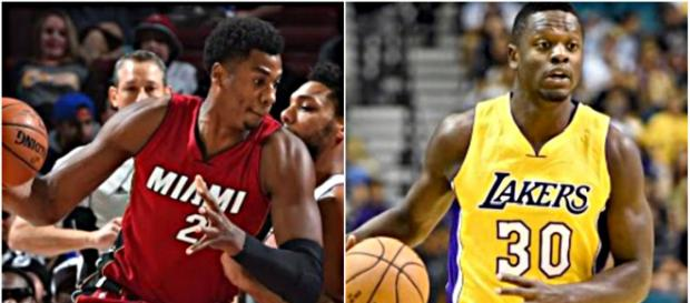 Miami's struggling to find value for Hassan Whiteside and Lakers could get high returns for Julius Randle – [image credit: Ximo Pierto/Youtube]
