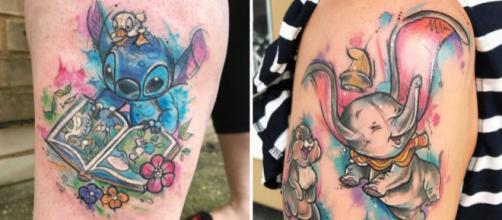 As tatuagens da artista Lady Chapelle. Fotos: Reprodução.