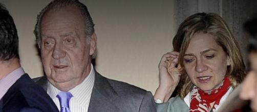 El rey Juan Carlos I con su hija la infanta Cristina
