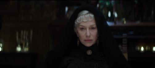 "Helen Mirren plays Sarah Winchester in the new film ""Winchester"".-Image Credit: BBC/YouTube screencap."