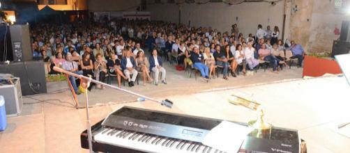Immagine della serata con Ugo Mazzei a Noto nel 2015