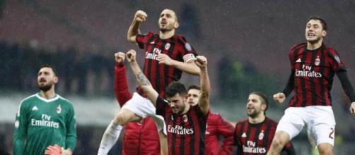 Milan esultanza dopo vittoria 1