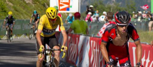 Richie Porte con Chris Froome al Tour de France