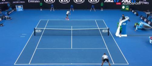 Roger Federer vincitore nel 2017 a Melbourne