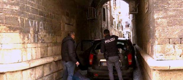Bitonto, l'intervento della Polizia sul luogo della sparatoria