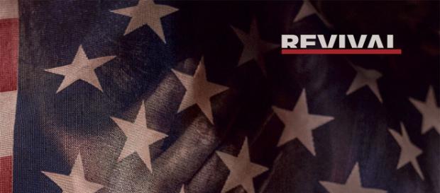 Cover von Eminems neuem Album zeigt die Amerikanische Flagge mit dem Titel des Albums