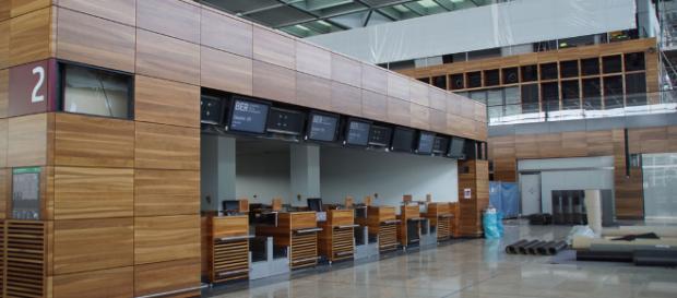 Der neue Berliner Flughafen von innen.