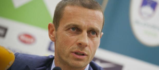 Le président slovène de l'Uefa, Alexander Ceferin, ne veut pas d'une Super Ligue europénne. (fourfourtwo.com)