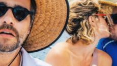Giovanna Ewbank beija outro e deixa marido Bruno de boca aberta