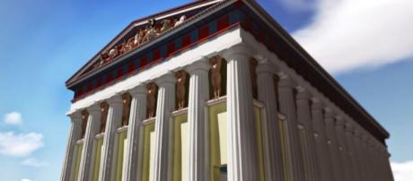 Agrigento, ecco la ricostruzione virtuale del tempio di Giove (fonte palermo.repubblica).