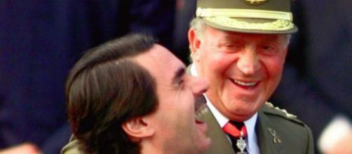 Juan Carlos I y José María Aznar