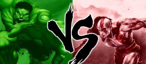 kratos contra hulk en una batalla a muerte