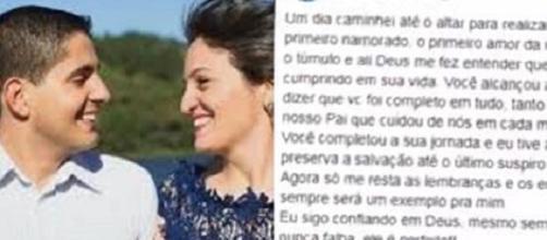 Pastor da Universal morre e esposa usa as redes sociais para desabafar. (Foto Reprodução).