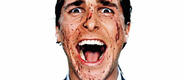Il serial killer Patrick Bateman in American psycho
