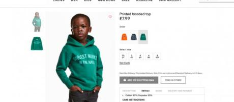 H&M slammed for racist ad - Image credit - @HuffPost | Twitter