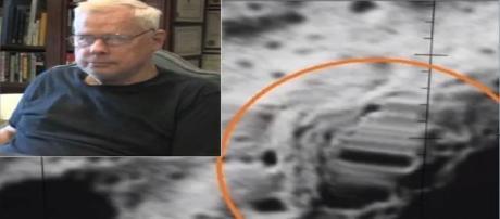 John Lear exibe fotografias de supostas estruturas artificiais na lua (John Lear).