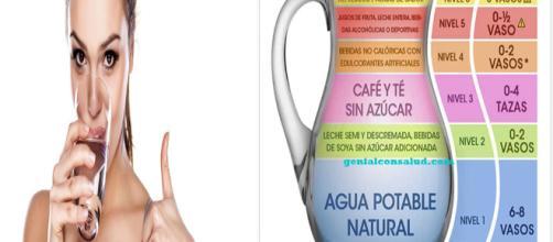 Como saber cuánta agua tú necesitas beber de acuerdo a tu peso - genialconsalud.com