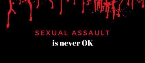 Designed by Louann Carroll. Sexual assault is never OK.